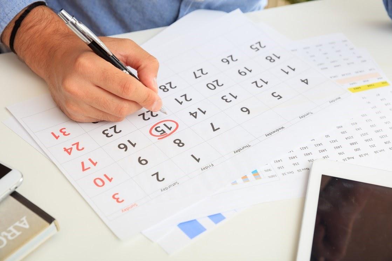 a circled date on a calendar